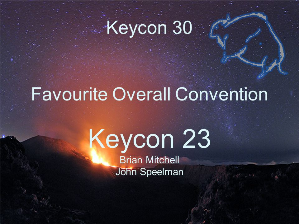 Keycon 30 Most Valuable Committee Member Alex Stornel