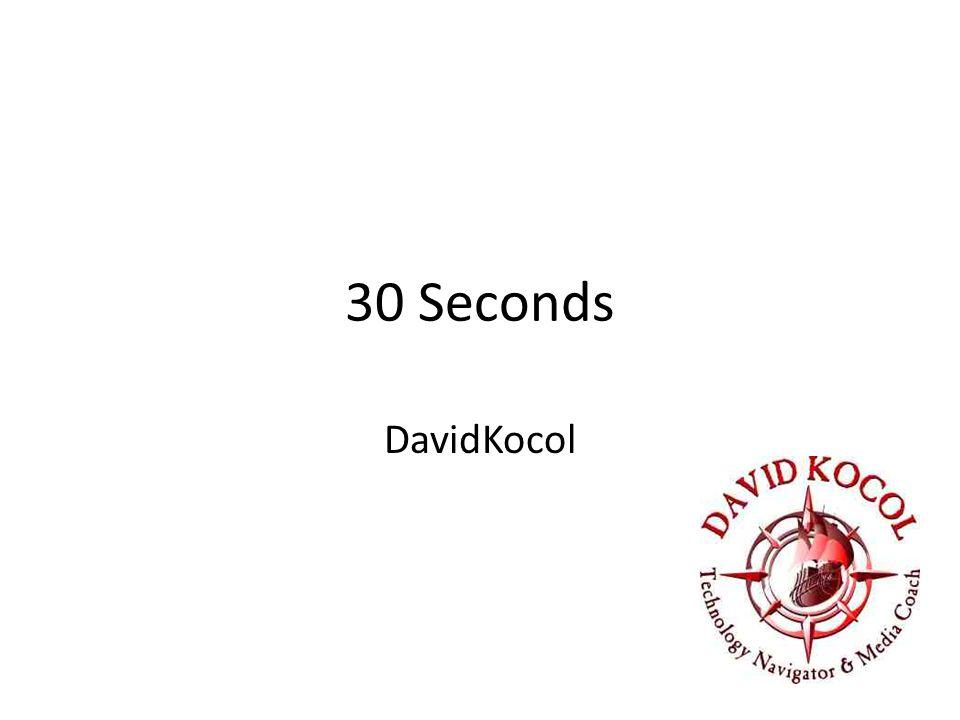 30 Seconds DavidKocol