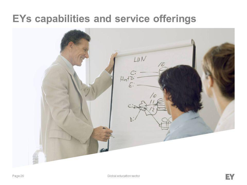 Page 26Global education sector EYs capabilities and service offerings