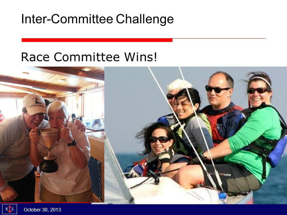 Inter-Committee Challenge Race Committee Wins! October 30, 2013