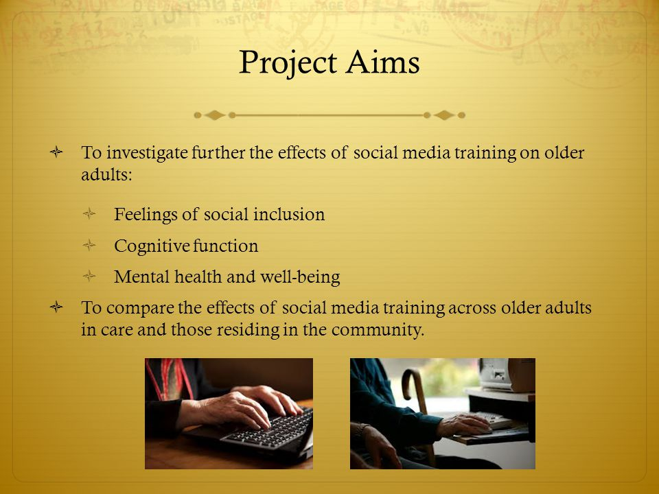User Pathway Social Media Training Social Inclusion Cognitive Health Mental Health Use