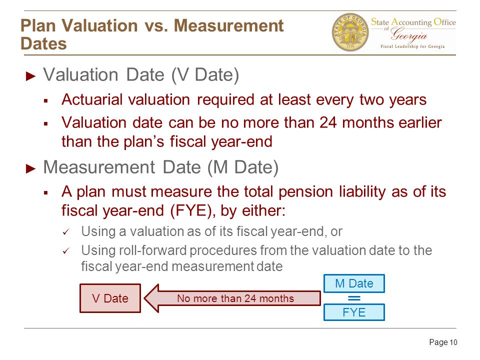 Page 10 Plan Valuation vs.