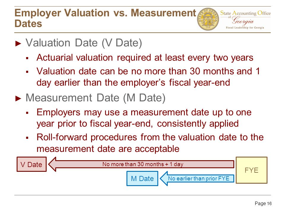 Page 16 Employer Valuation vs.