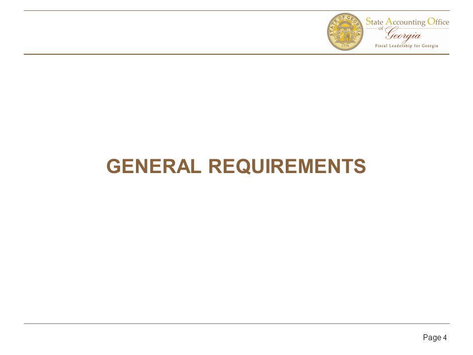 Page 4 GENERAL REQUIREMENTS