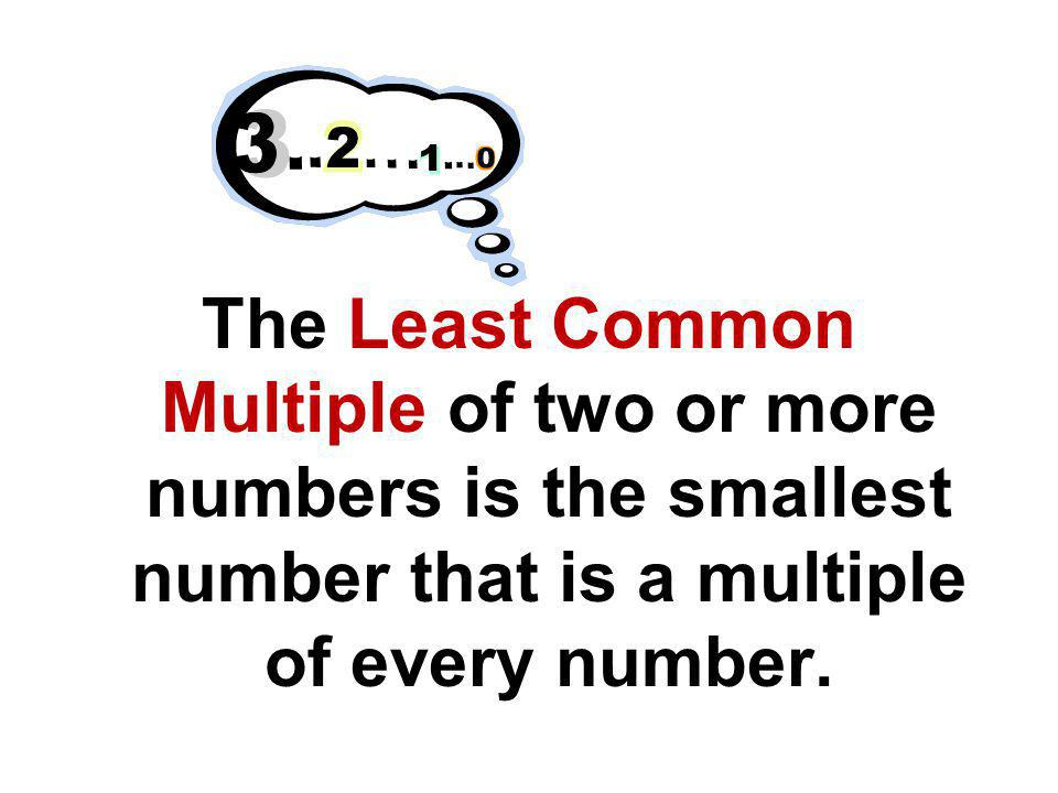 There are two methods for finding the LCM. 1.Listing the multiples 2.Using the Ladder