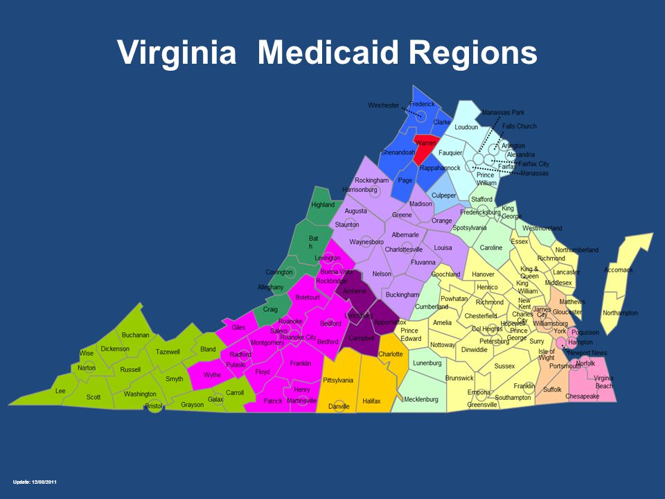 Update: 12/08/2011 Virginia Medicaid Regions