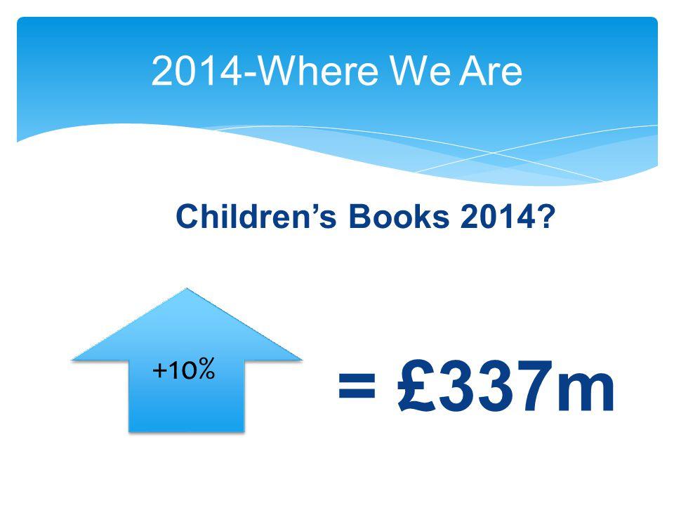 2014-Where We Are +10% = £337m Children's Books 2014