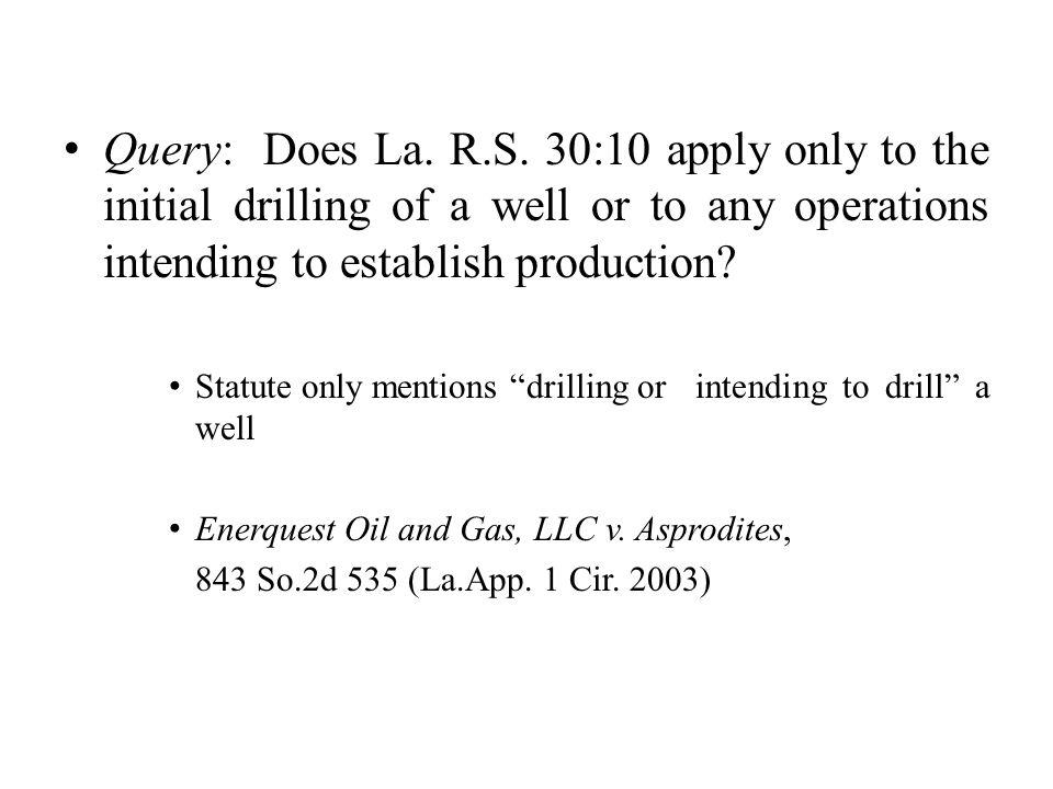 Query: Does La.R.S.