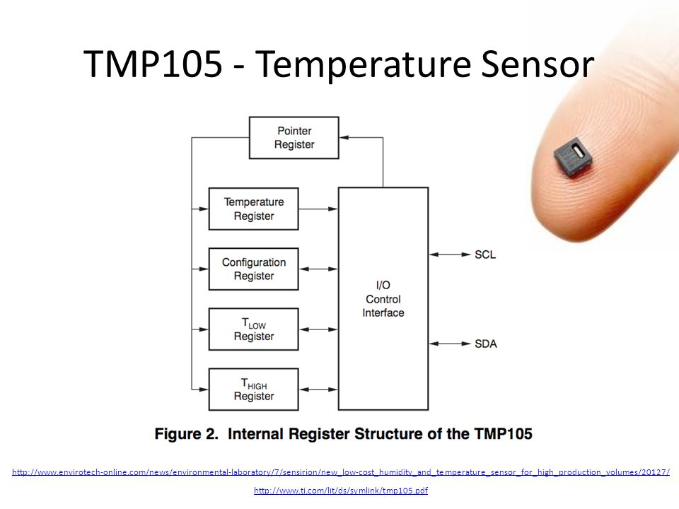http://www.ti.com/lit/ds/symlink/tmp105.pdf TMP105 - Temperature Sensor http://www.envirotech-online.com/news/environmental-laboratory/7/sensirion/new_low-cost_humidity_and_temperature_sensor_for_high_production_volumes/20127/