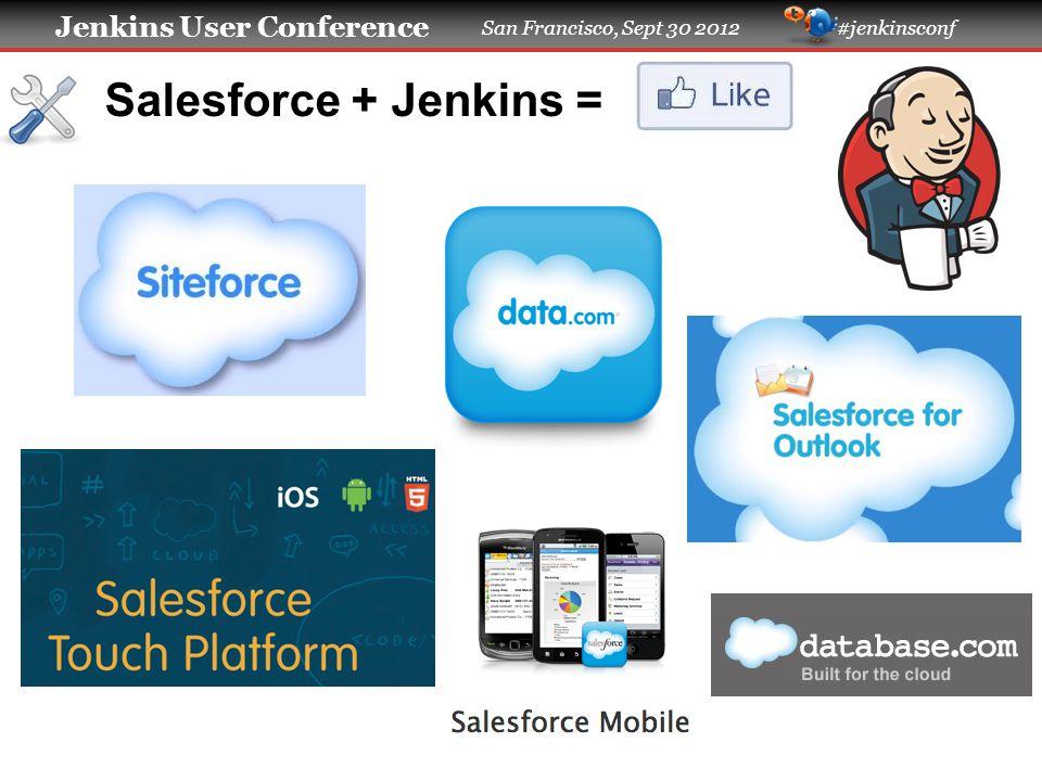 Jenkins User Conference San Francisco, Sept 30 2012 #jenkinsconf Salesforce + Jenkins =
