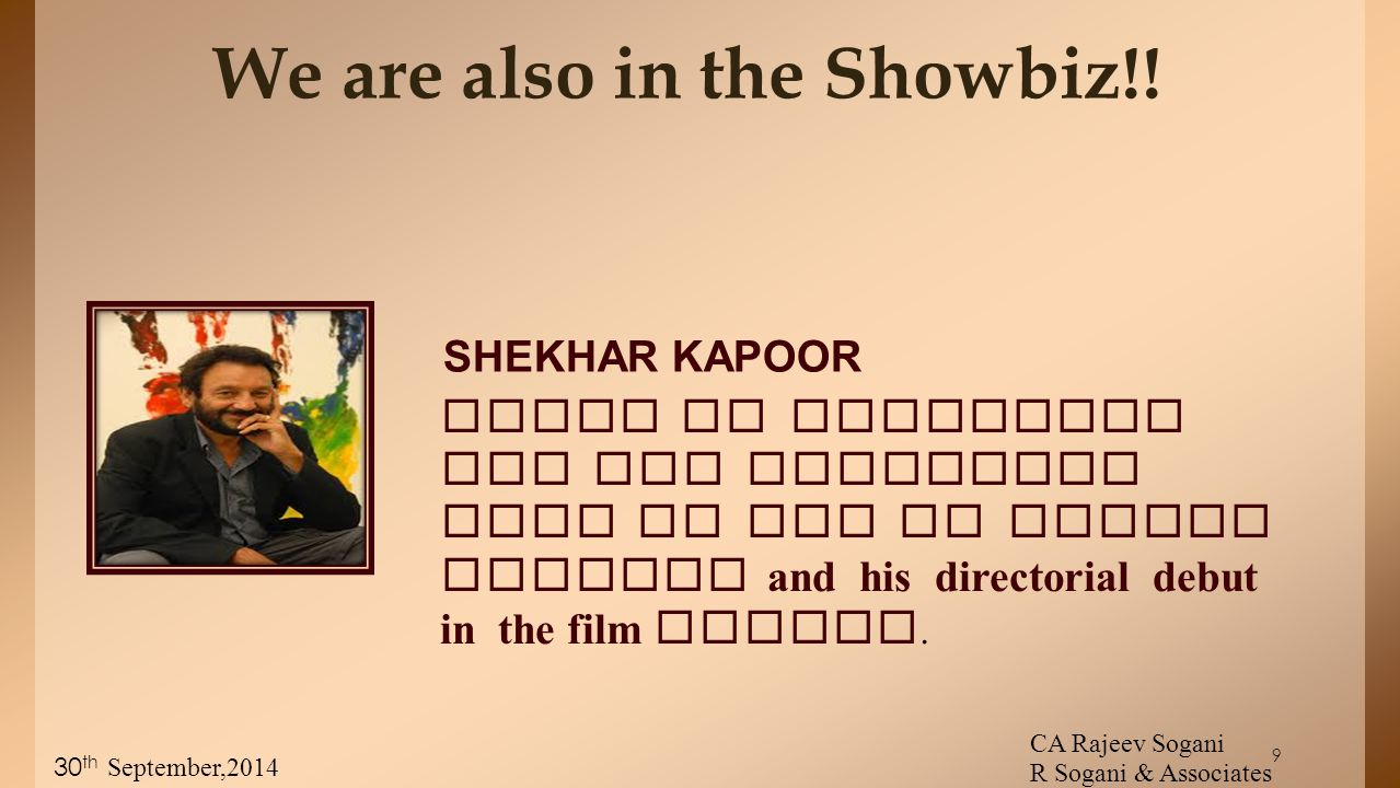 9 We are also in the Showbiz!.