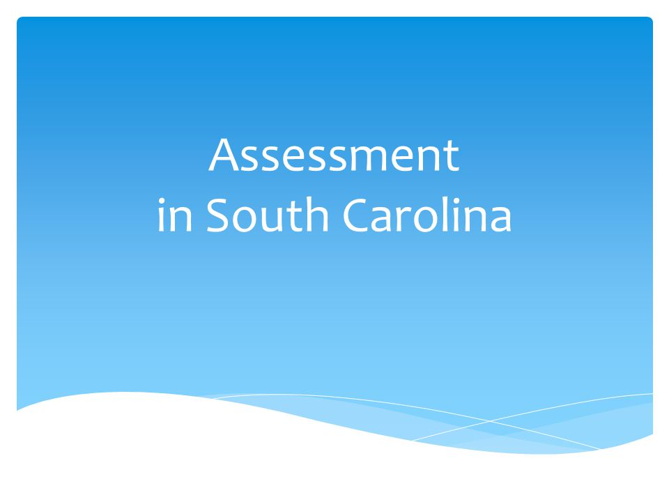 Assessment in South Carolina