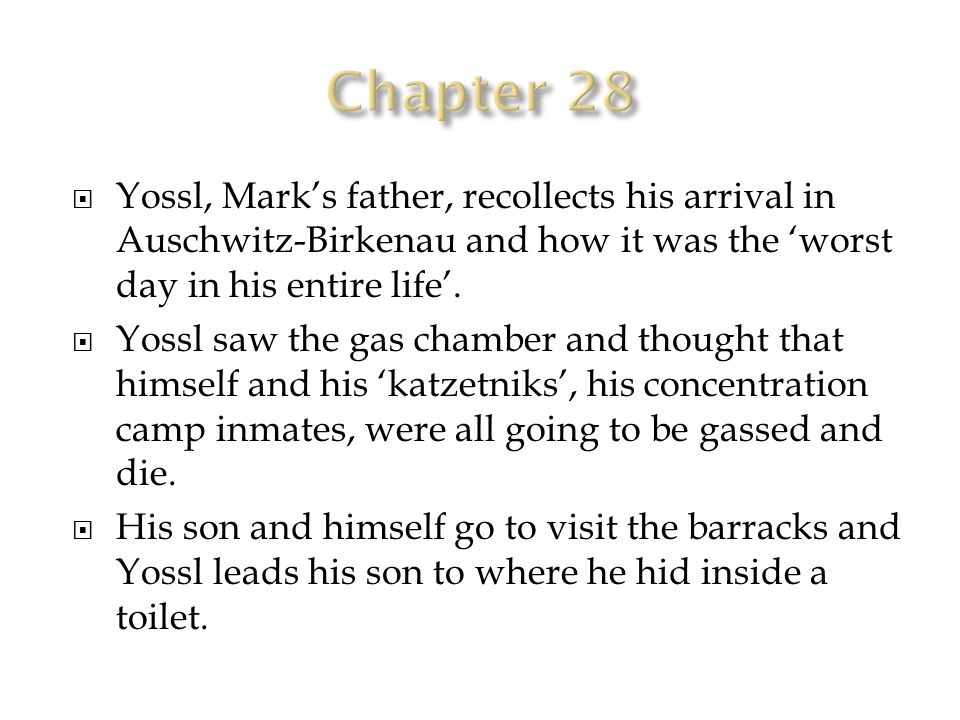  Yossl, Mark's father, recollects his arrival in Auschwitz-Birkenau and how it was the 'worst day in his entire life'.
