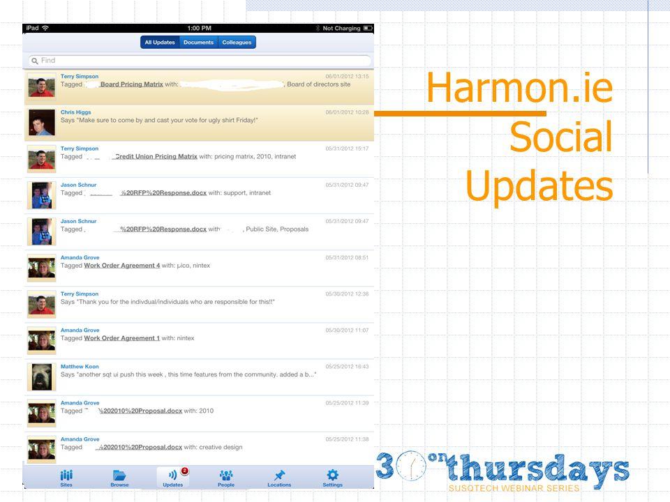 Harmon.ie Social Updates