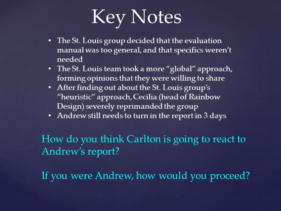 Key Notes The St.