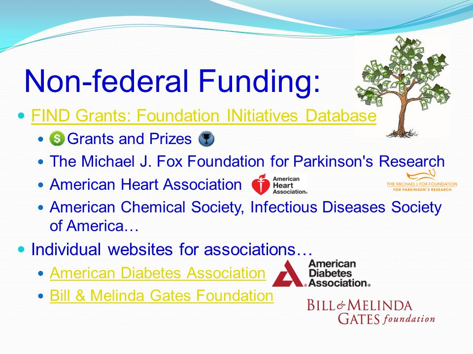 Non-federal Funding: FIND Grants: Foundation INitiatives Database Grants and Prizes The Michael J.