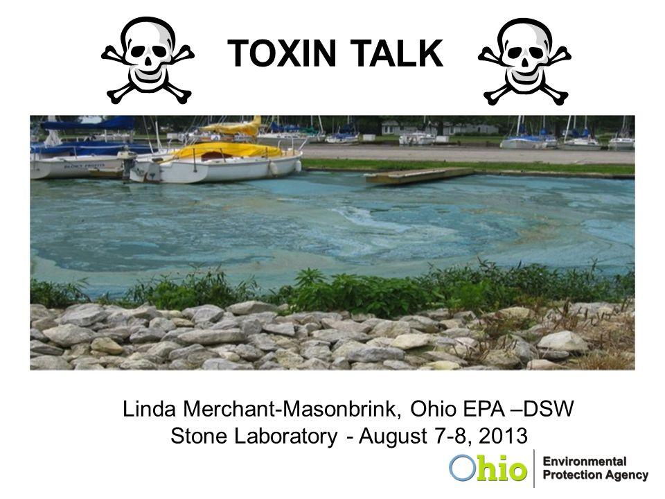 TOXIN TALK Linda Merchant-Masonbrink, Ohio EPA –DSW Stone Laboratory - August 7-8, 2013