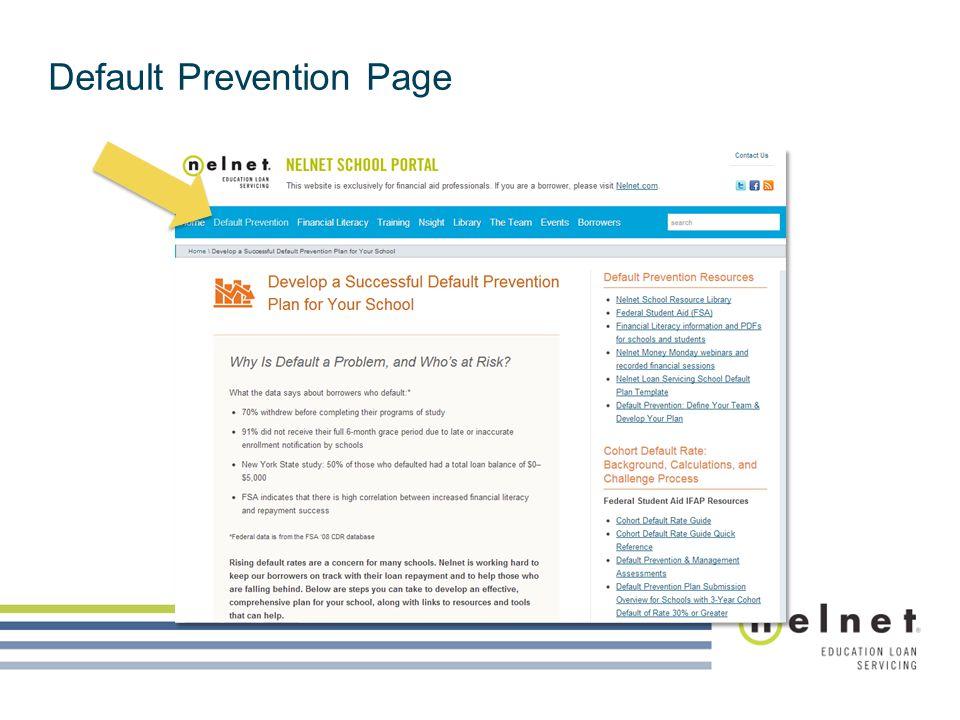 Default Prevention Page