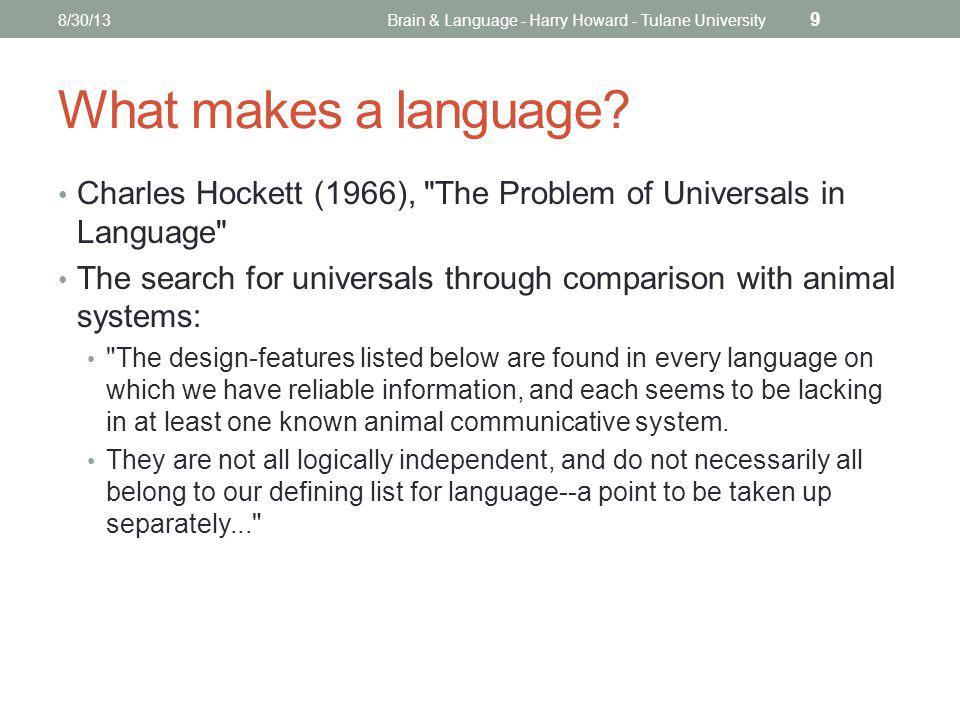 Design features of language 1-5 1.