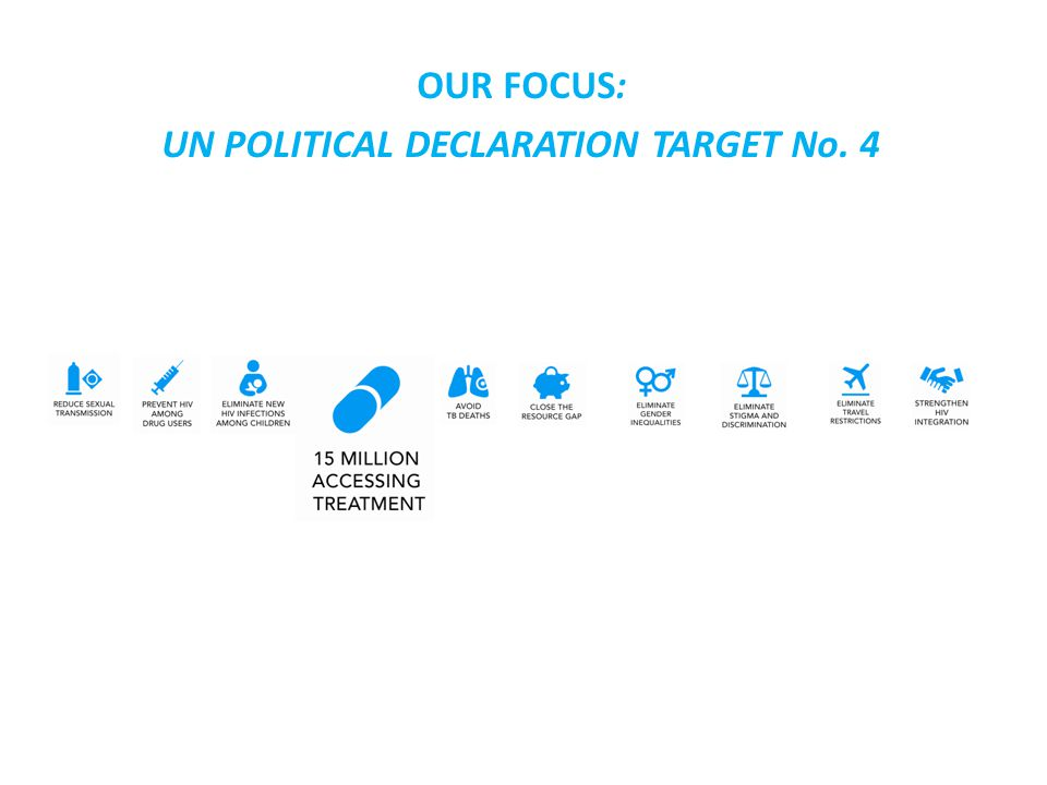 OUR FOCUS: UN POLITICAL DECLARATION TARGET No. 4