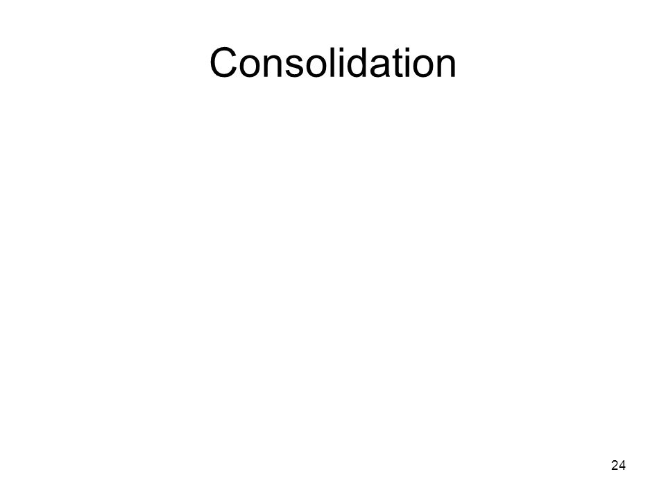 24 Consolidation