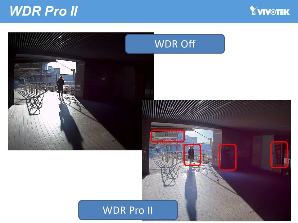 WDR Pro II WDR Off WDR Pro II