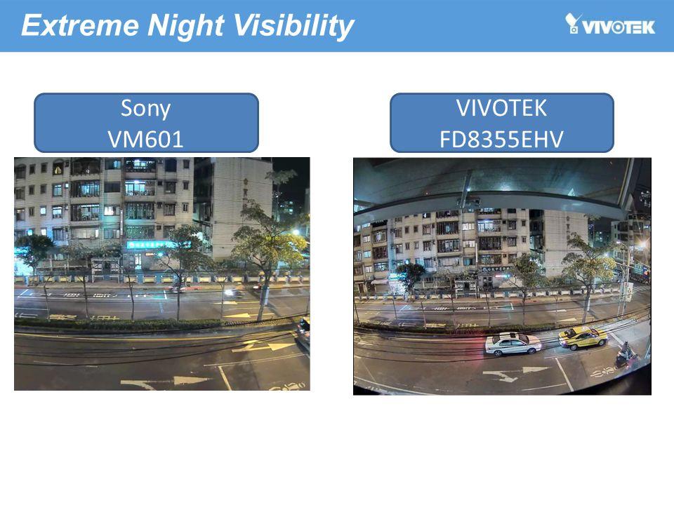 Extreme Night Visibility Sony VM601 VIVOTEK FD8355EHV
