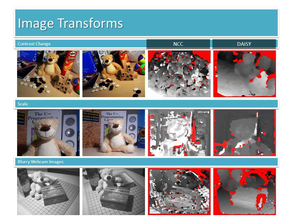 Image Transforms Contrast Change Scale Blurry Webcam Images DAISYNCC