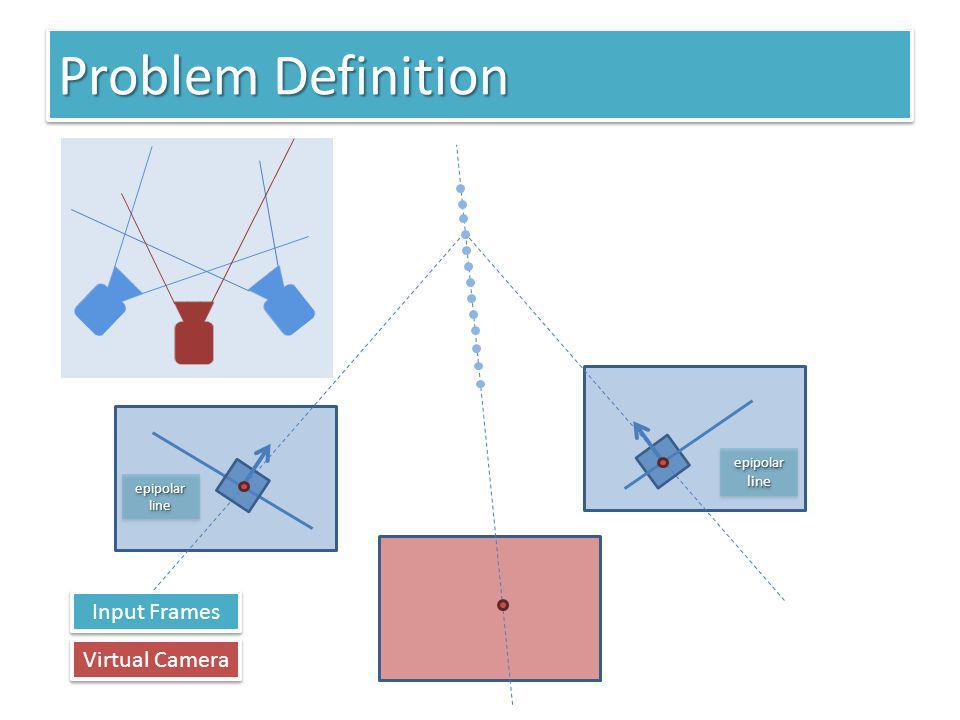 Problem Definition epipolar line Virtual Camera Input Frames