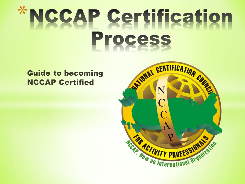 Guide to becoming NCCAP Certified
