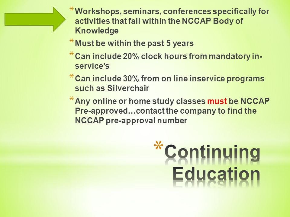 * ACADEMIC EDUCATION Bachelor s Degree (must include an English plus 7 other coursework areas with at least 1 course from areas B, C, and D).