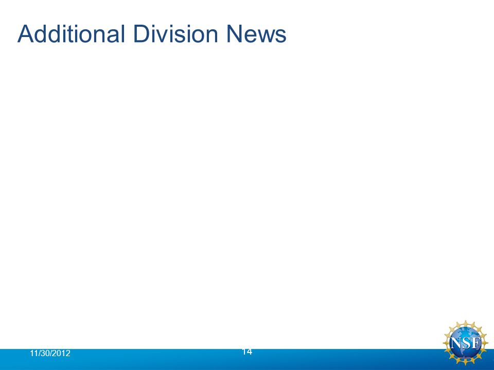 Additional Division News 14 11/30/2012