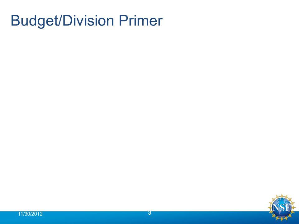 Budget/Division Primer 3 11/30/2012