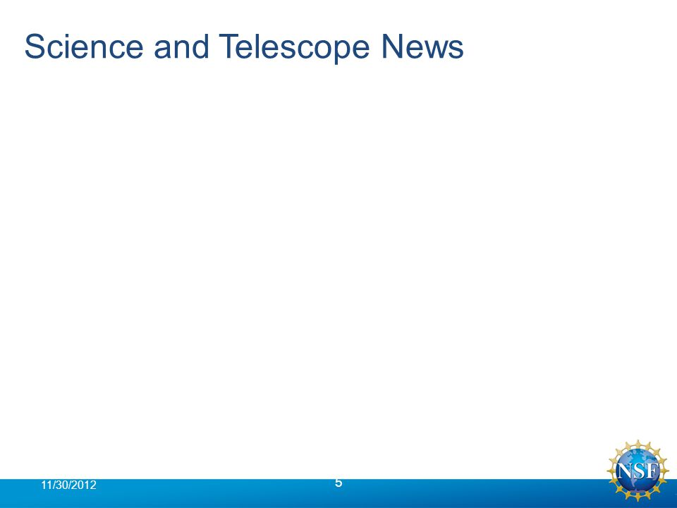 Science and Telescope News 5 11/30/2012