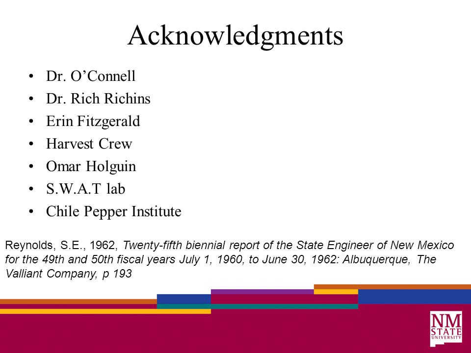 Acknowledgments Dr. O'Connell Dr.