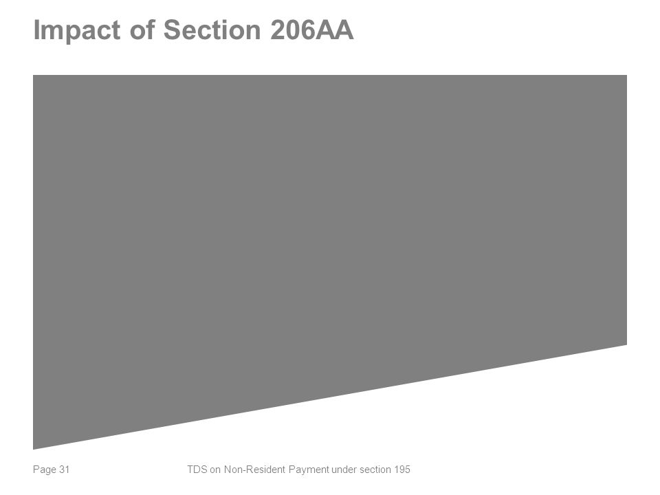 Page 31 Impact of Section 206AA TDS on Non-Resident Payment under section 195