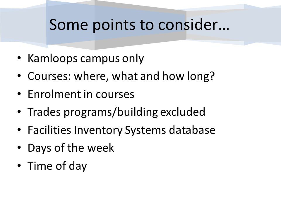 Definitions Kamloops campus only Courses: where, what and how long.