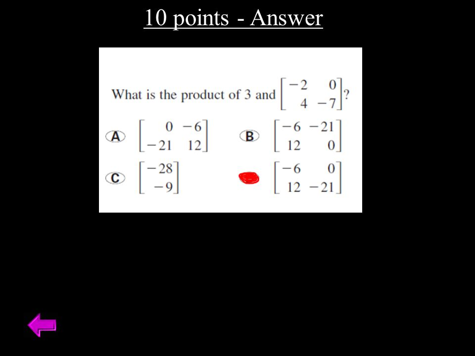 10 points - Answer