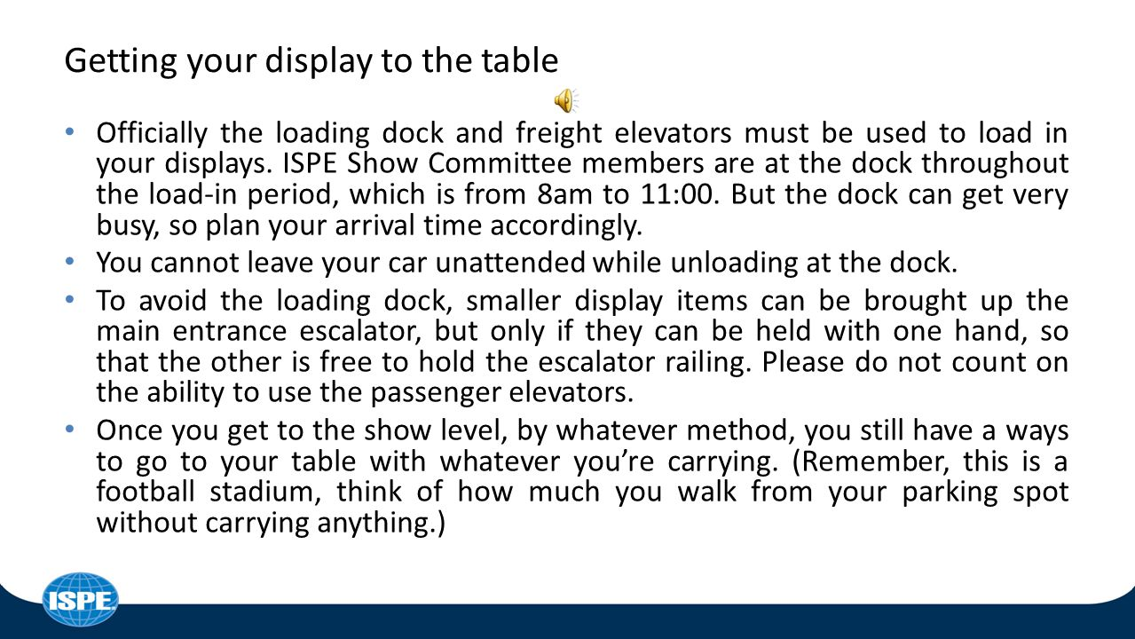 We'll be showing you how to bring your display to the stadium yourself, BUT….