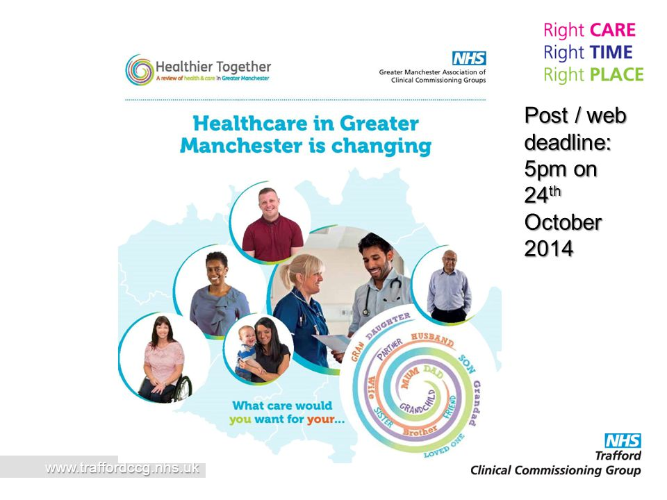 www.traffordccg.nhs.uk Post / web deadline: 5pm on 24 th October 2014
