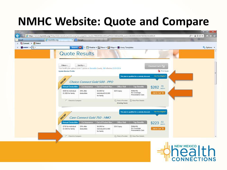 NMHC Website: Quote and Compare