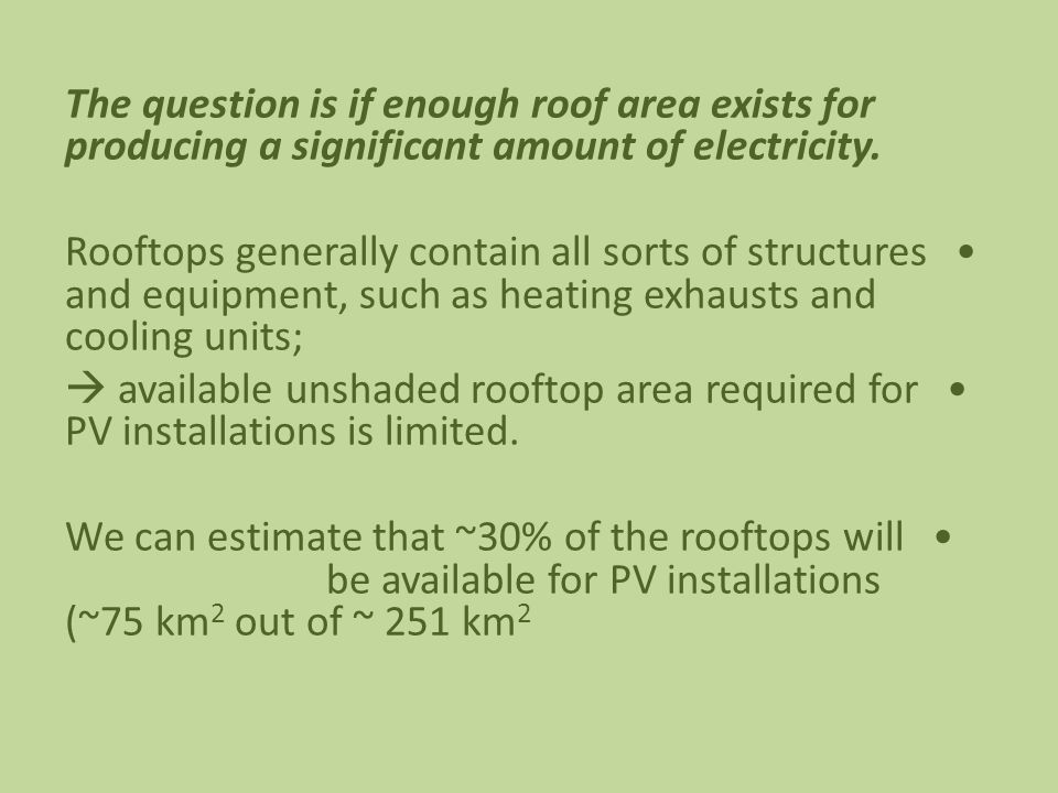 The question is if enough roof area exists for producing a significant amount of electricity.