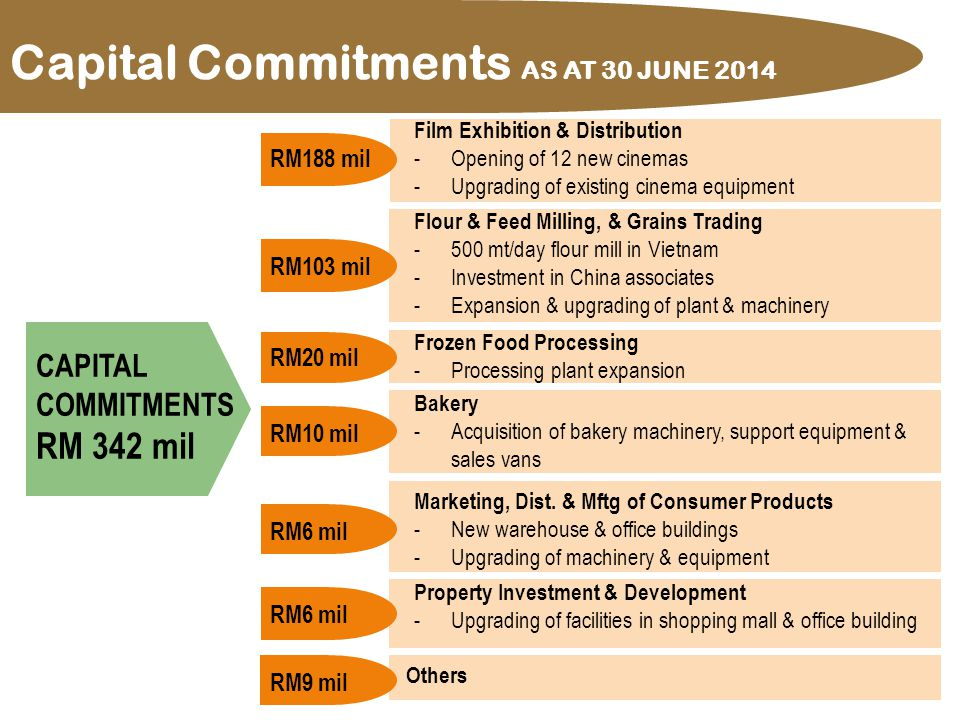 28 Capital Commitments AS AT 30 JUNE 2014 Flour & Feed Milling, & Grains Trading -500 mt/day flour mill in Vietnam -Investment in China associates -Ex