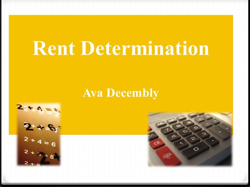 Rent Determination Ava Decembly