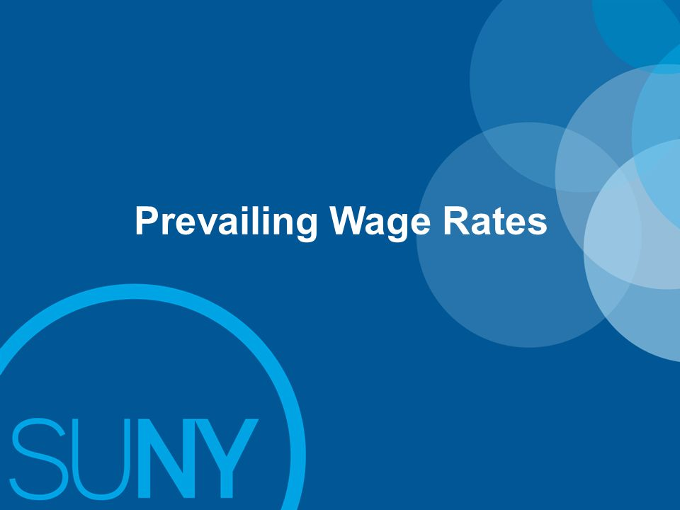 Prevailing Wage Rates