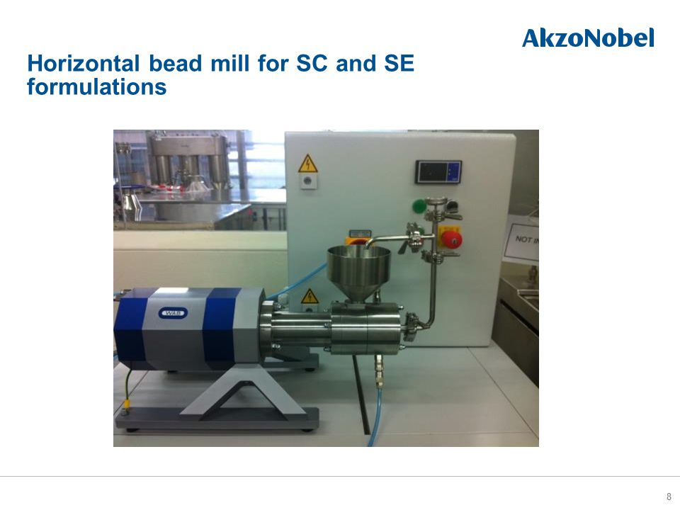 Horizontal bead mill for SC and SE formulations 8