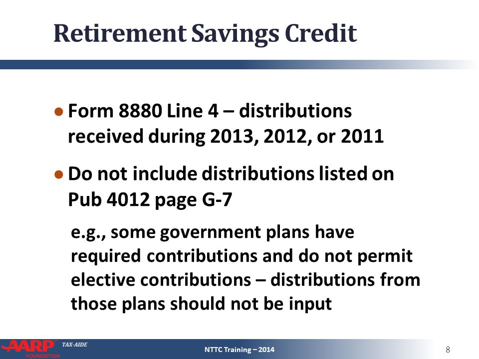 TAX-AIDE Other Non- Refundable Credits Pub 4491 – Part 5 Pub 4012 ...
