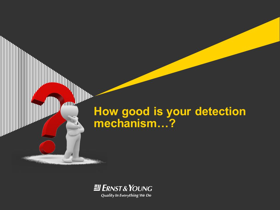 How good is your detection mechanism…