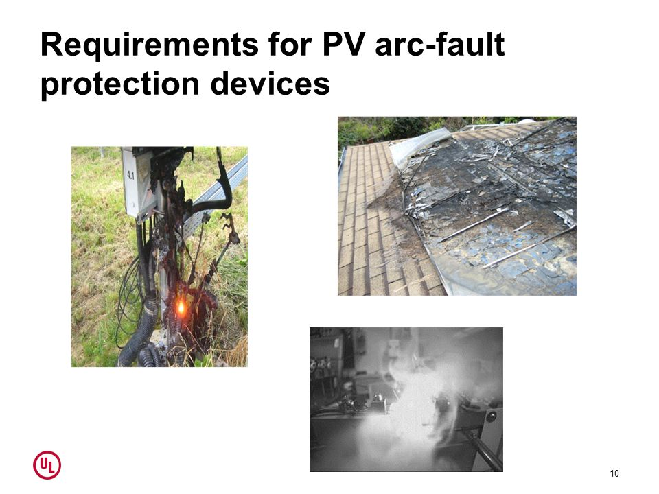 Requirements for PV arc-fault protection devices 10