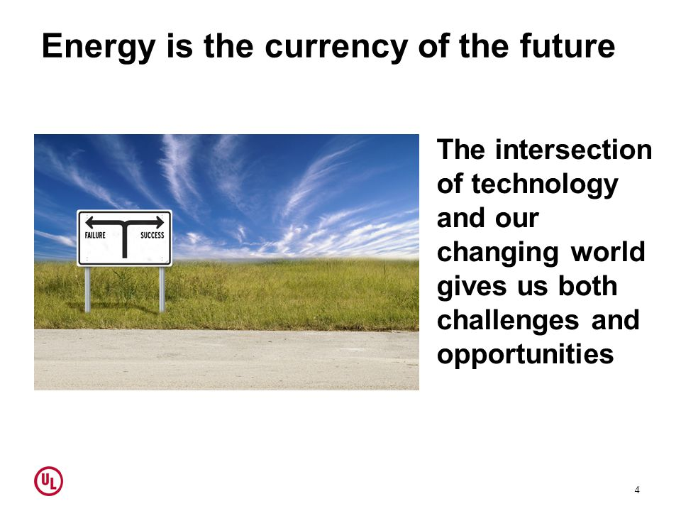 Opportunities Alternative energies give us the chance to: Build an energy infrastructure more in line with societal values Increase benefits to the public – ease of use, global compatibility, etc.